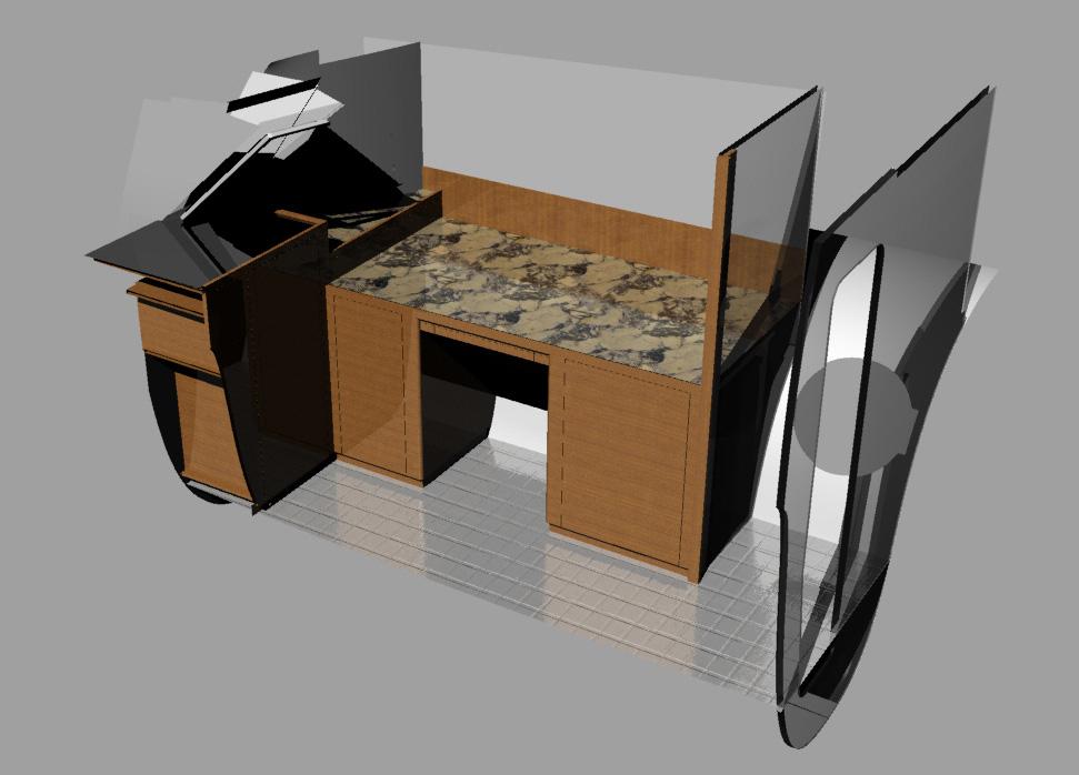 Gunboat 5505 Office w cab doors